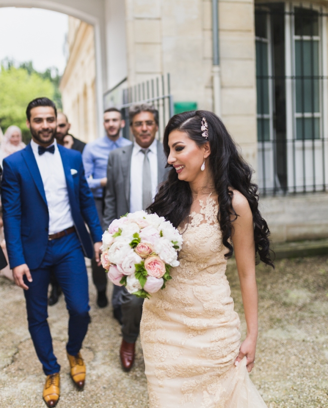 photos mariage oriental cérémonie civile mairie de sceaux