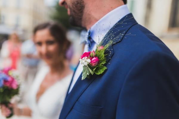 cérémonie religieuse d'un mariage bohème à vanves